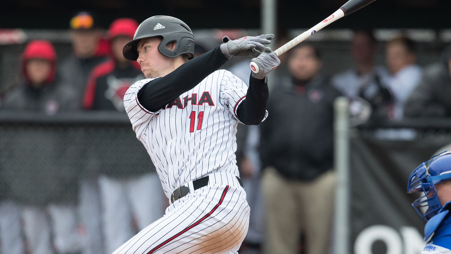 College players swinging the omaha